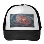 Messier 106 Spiral Galaxy Space Art Painting Mesh Hat
