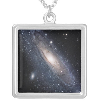 Messier 31, The Great Galaxy in Andromeda Silver Plated Necklace