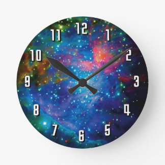 Messier 42 Orion Nebula Infrared ESO Space Photo Round Clock