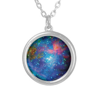 Messier 42 Orion Nebula Infrared ESO Space Photo Silver Plated Necklace