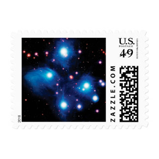 Messier 45 Pleiades Star Cluster Postage