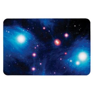 Messier 45 Pleiades Star Cluster Vinyl Magnet