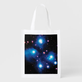 Messier 45 Pleiades Star Cluster Market Totes