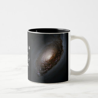 "Messier 64 - The ""Black Eye"" Galaxy Two-Tone Coffee Mug"