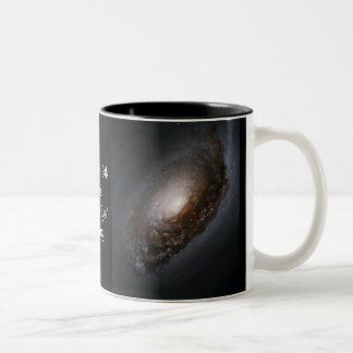 """Messier 64 - The """"Black Eye"""" Galaxy Two-Tone Coffee Mug"""