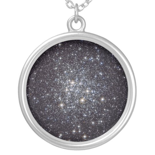 Messier 72 Globular Star Cluster NGC 6981 M72 Silver Plated Necklace