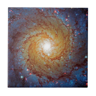 Messier 74 Spiral Galaxy Ceramic Tile