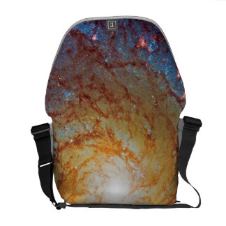 Messier 74 Spiral Galaxy Outer Space Photo Courier Bag