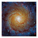 Messier 74 Spiral Galaxy Posters