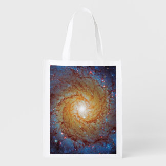 Messier 74 Spiral Galaxy Grocery Bag