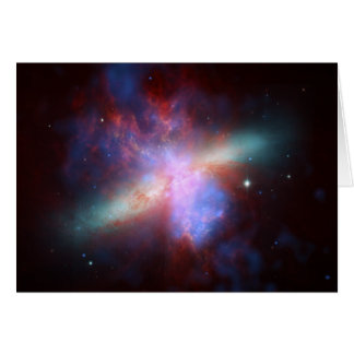 Messier 82 NGC 3034 Cigar Galaxy M82 Composite Card