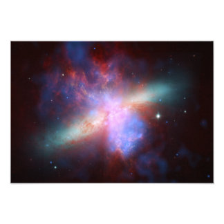 Messier 82 NGC 3034 Cigar Galaxy M82 Composite Personalized Invitation
