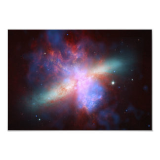 Messier 82 NGC 3034 Cigar Galaxy M82 Composite 3.5x5 Paper Invitation Card