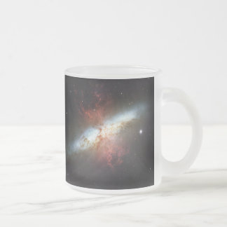 Messier 82 NGC 3034 Cigar Galaxy M82 Frosted Glass Coffee Mug