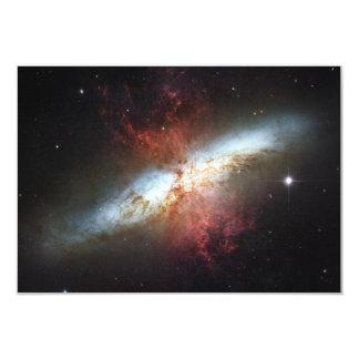 Messier 82 NGC 3034 Cigar Galaxy M82 3.5x5 Paper Invitation Card
