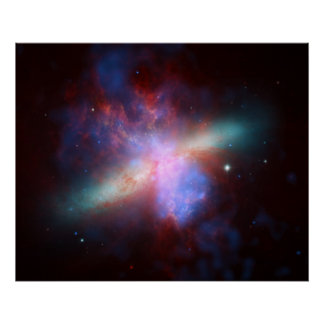 Messier 82 Space Galaxy Poster