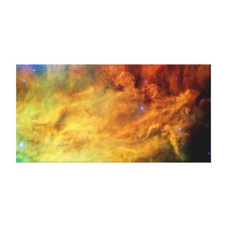 Messier 8 Lagoon Nebula - NASA Hubble Space Photo Canvas Print
