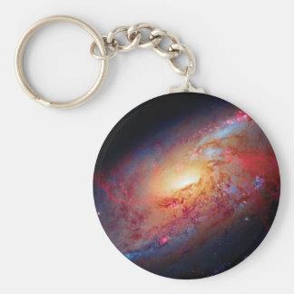Messier M106 Spiral Galaxy Basic Round Button Keychain