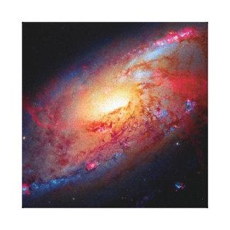 Messier M106 Spiral Galaxy Canvas Print