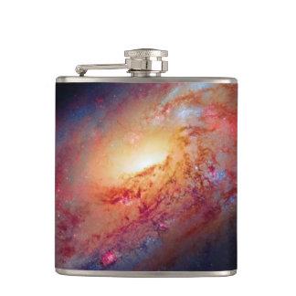 Messier M106 Spiral Galaxy Hip Flask