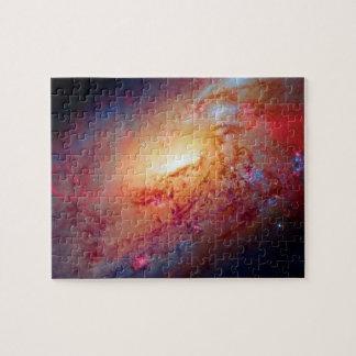 Messier M106 Spiral Galaxy Jigsaw Puzzles