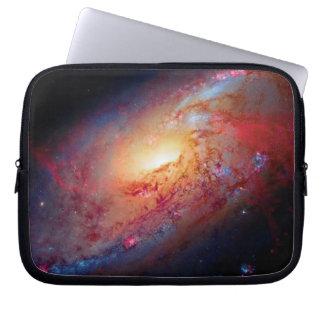Messier M106 Spiral Galaxy Laptop Computer Sleeve