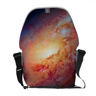 Messier M106 Spiral Galaxy Outer Space Photo Courier Bag