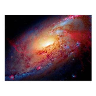 Messier M106 Spiral Galaxy Postcard