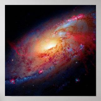 Messier M106 Spiral Galaxy Poster