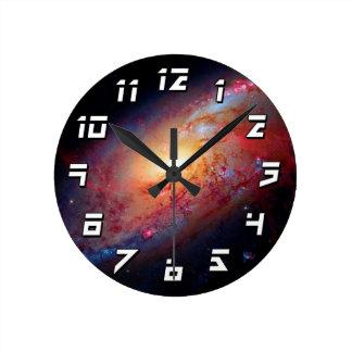 Messier M106 Spiral Galaxy Round Clock