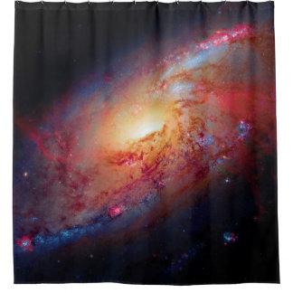 Messier M106 Spiral Galaxy Shower Curtain