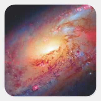 Messier M106 Spiral Galaxy Square Sticker