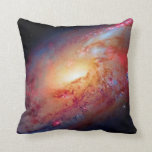 Messier M106 Spiral Galaxy Throw Pillow