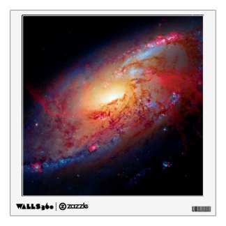 Messier M106 Spiral Galaxy Wall Skins