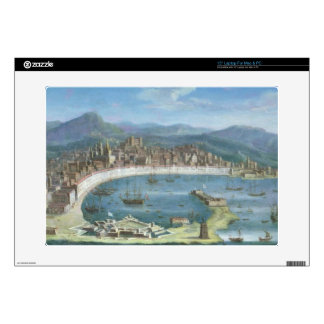 """Messina - a Panoramic View of the Port 15"""" Laptop Skin"""