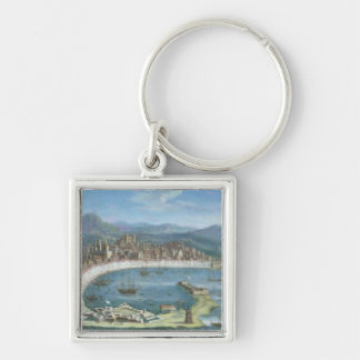 Messina - a Panoramic View of the Port Keychain