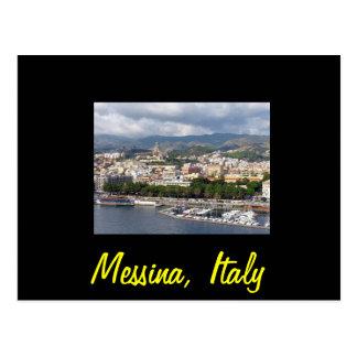 Messina italy postcard
