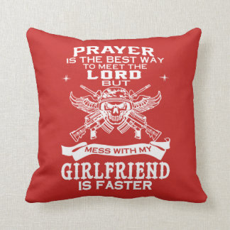MESSING WITH MY GIRLFRIEND! THROW PILLOW