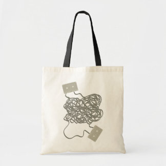 Messy cassette tapes tote bag