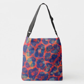 Messy Cheetah Abstract Crossbody Bag