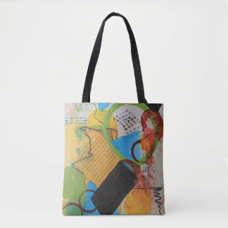 Messy Circles Tote Bag