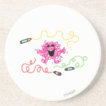 Messy Coloring Beverage Coasters