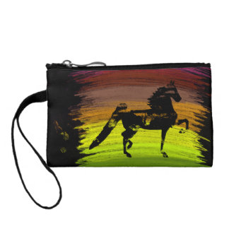 Messy Colors Saddlebred Key Coin Clutch