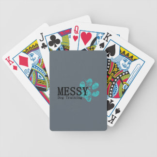 MESSY Dog Training Bicycle Playing Cards