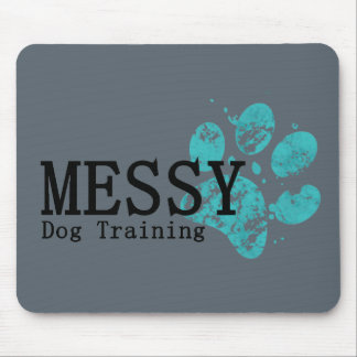 MESSY Dog Training Mouse Pad