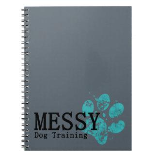 MESSY Dog Training Spiral Notebook