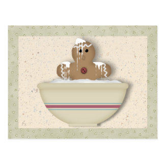 Messy Gingerbread Man Recipe Card Post Cards