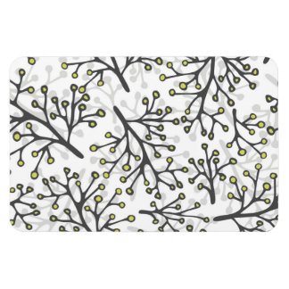 messy gray green branches on white background magnet