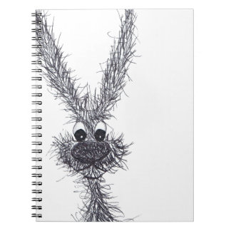 MESSY HARE SPIRAL NOTEBOOK