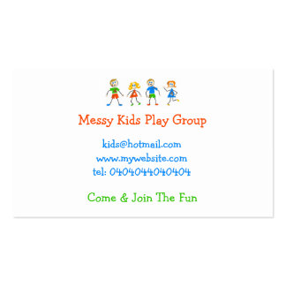 Messy Kids Business Card